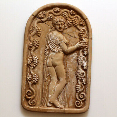Very Rare Hellenic Ancient Greek Stone Plaque Panel Circa 300-150 Bc