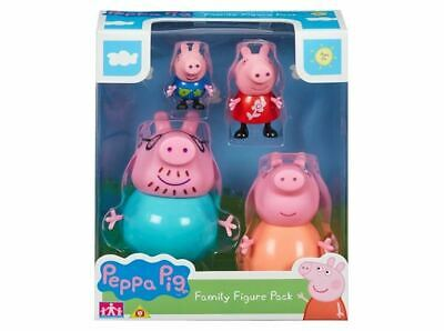 Peppa Pig  Family Pack of 4 Figures Inc Mummy Daddy Peppa George