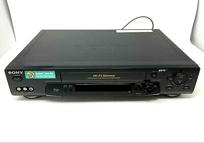 Sony SLV-N71 VCR 4-Head VHS Player HiFi Tested Video Cassette Recorder No Remote