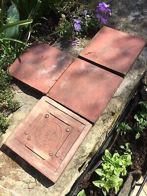 4 Hand Made Victorian Platts Quarry Tiles Excelsior 150 x 150 x 20mm