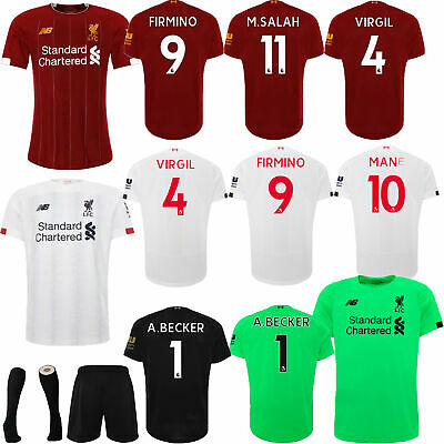 19/20 Football Full Kits Soccer Jersey Strip Suits Home/Away Kids Outfits+Socks