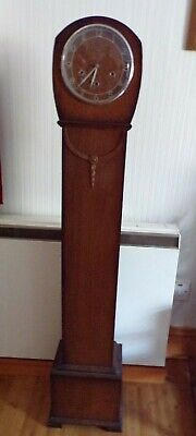 1920/30's SMITHS Oak Cased Grandmother Clock -  Westminster Chimes Movement
