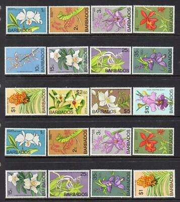 Barbados Mnh 1974 Orchids Selection