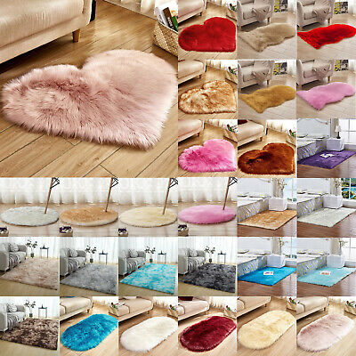 Fluffy Rugs Anti-Skid Shaggy Area Rugs Dining Room Floor Mat Home Bedroom Carpet