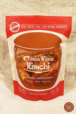 32oz Fresh Raw Korean Spicy Napa Cabbage Kimchi from Mama Kim's Kimchi Authentic