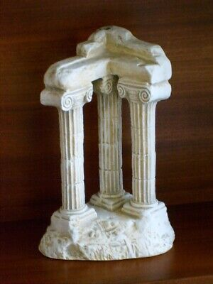A Large Italian Grand Tour Plaster Model Of The Vespasian Temple Rome VGC