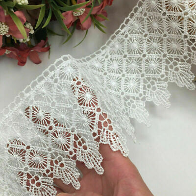 1yards Polyester Lace Trim Ribbon Appliques Embroidered Dress Sewing Crafts DIY