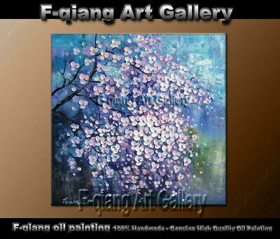 Large Modern Abstract Floral Oil Painting Contemporary Wall Art on Canvas Framed