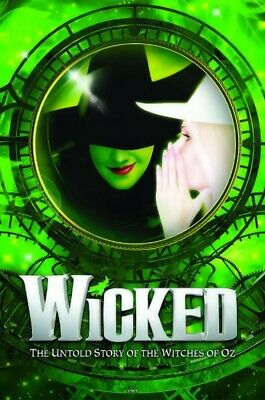 WICKED - KEY ART POSTER - 13 by 19 BROADWAY PLAY free shipping