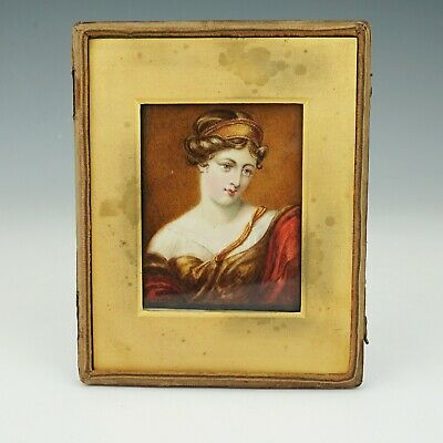 Antique Victorian Hand Painted Portrait Miniature Painting - Lovely!