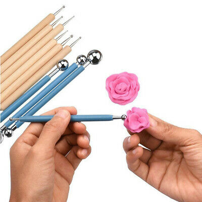 10Pcs Dotting Tools Stainless Steel Ball Pens Styluses for Mandala Rock Painting