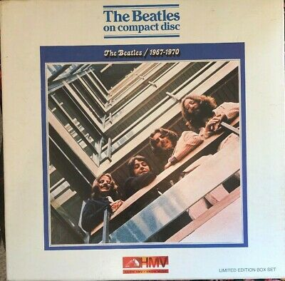 HMV Box Set BEATLES blue album Anniversary CD 1993 inc poster & booklet M-