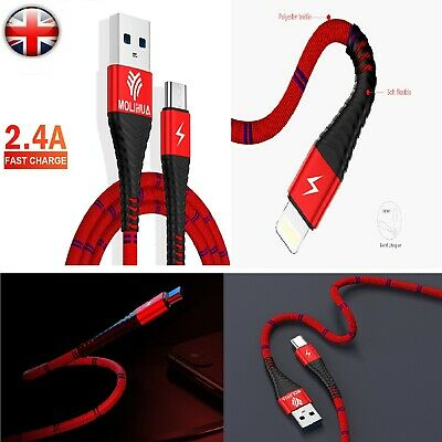 Micro USB Fast Data Charger Cable Nylon Braided Lead Samsung Galaxy Android New