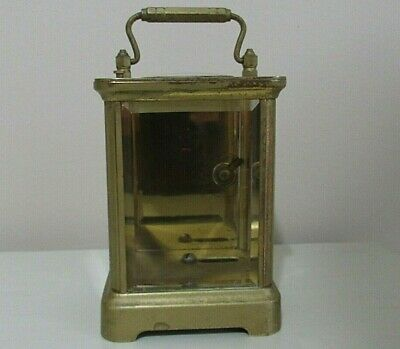 Antique Brass Beveled Glass Clock Case Only  5.5""