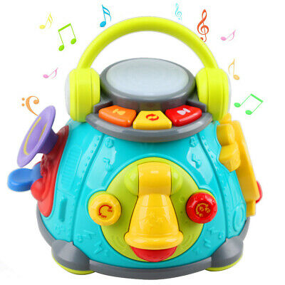 Baby Music Activity Cube Play Center, Kids Musical Singing Sensory Toys, Lights