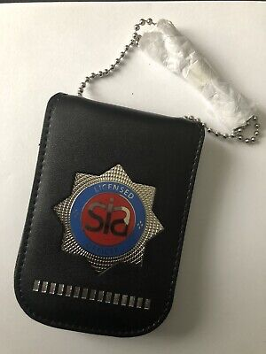 Licence Card Neck Holder And Wallet With Red Security Badge