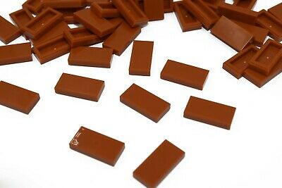 100 x New Lego 1x2 Plate Smooth Red Flat 2X1 Tile 3069