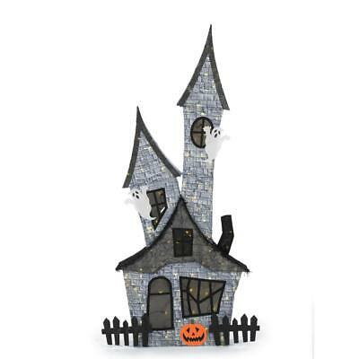 80 Inch Halloween Haunted Ghost House Life Size Lighted Scary Weather Resistant