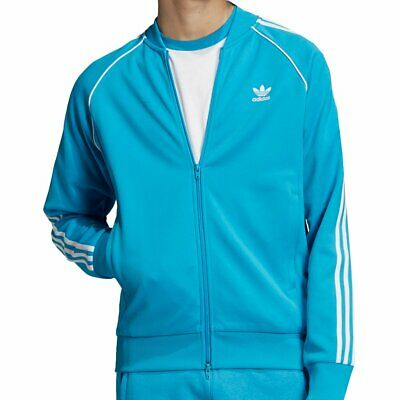 ADIDAS SUPERSTAR TRACK Top Jacket Shock Cyan SST Herren