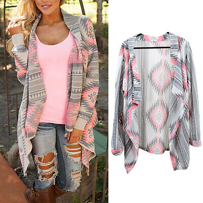 Women's Cardigan Knitted Sweater Shawl Coat Jacket Outwear Jumper Long Sleeve