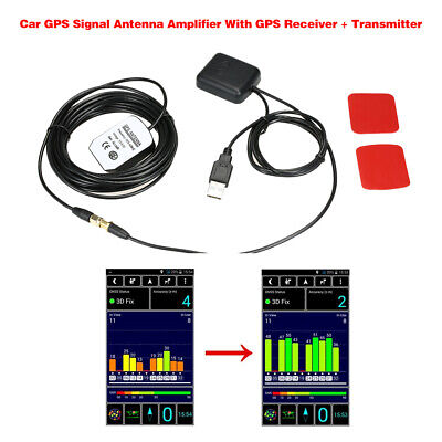 Car GPS Signal Antenna Amplifier Booster with GPS Receiver + Transmitter N5O5