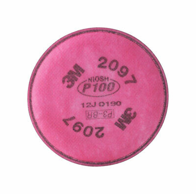3M  P100  Respirator Mask Replacement Filter  Pink  2 pc.