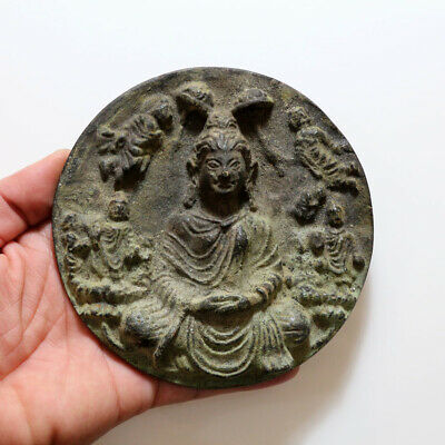Perfect Quality Gandhara Round Religious Mount Ornament Applique Ca 100 Ad