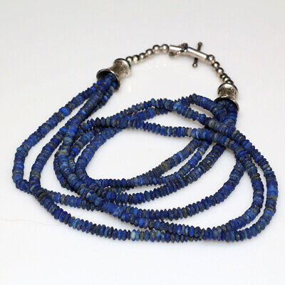 An Amazing Near East Bactira Lapis Lazuli Triple Necklace Ca 100 Bc-Ad
