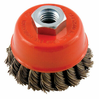 Forney  5/8 in.  x 2.75 in. Dia. Knotted  Steel  Cup Brush  1 pc.