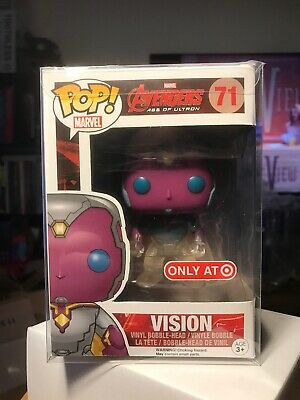Funko Pop Marvel 71 Vision Faded Avengers Age Ultron Target With Protector