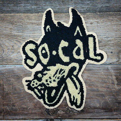 So Cal Speed Shop Wolf Vtg Style Chain Stitch Chenille Jacket Patch  Hot Rod Rat