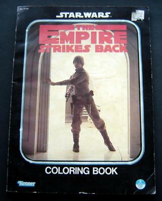 Star Wars Empire Strikes Back Coloring Book 1980 Luke Skywalker Cover Kenner