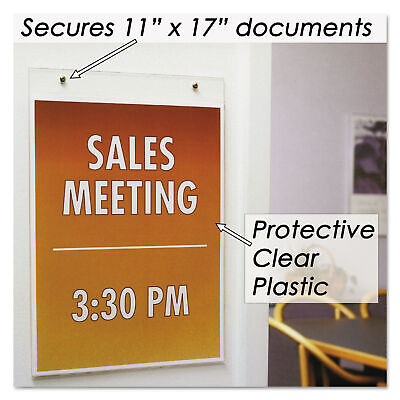 Nu-Dell Clear Plastic Sign Holder, Wall Mount, 11 x 17, EA - NUD38017Z
