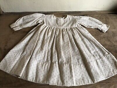 Early Antique Red Dot Calico Handmade Small Dress Textile AAFA Hand Sewn