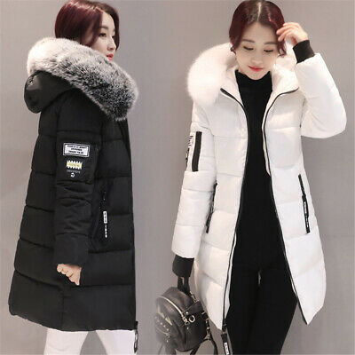 Womens Parka Coats Jackets Outerwear Ladies Winter Chunky Hooded Puffer Bubble