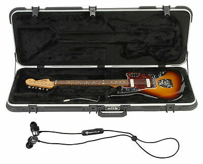 SKB 1SKB-62 Jaguar/Jazzmaster Hard Electric Guitar Case + Free Bluetooth EarBuds