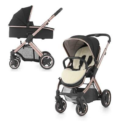 BabyStyle Oyster 2 Pushchair Rose Gold (Ink Black) & Carrycot