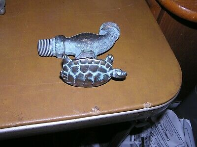 Vintage Solid Brass Turtle Knob Water Faucet Spicket Spout