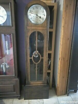 Art Deco haller grandfather clock with Westminster chimes movement