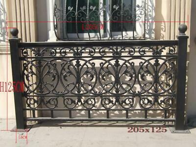 Nice Solid Cast Iron Victorian Style Fence Panel System Nb21
