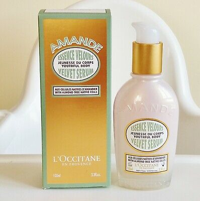 L'Occitane Amande Velvet Serum Essence Velours Almond 100 ml Brand New with Box
