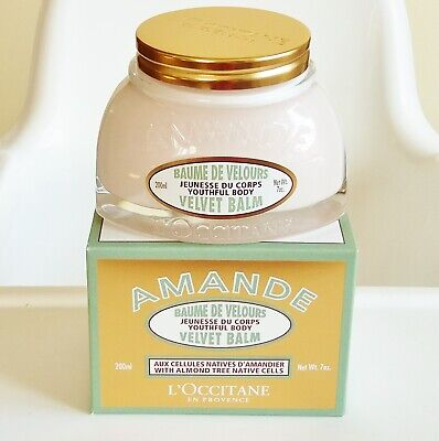L'Occitane Amande Youthful Body Velvet Balm Almond 7 oz / 200 ml New with Box