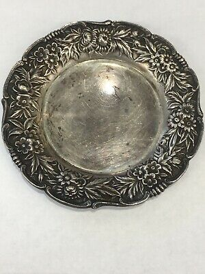 """S. Kirk & Son REPOUSSE Sterling Silver Butter Dish  3 1/4"""" 39g"""
