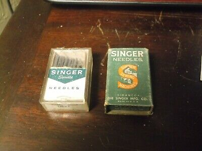 Lot Of Singer Sewing Machine Needles In Vintage Boxes