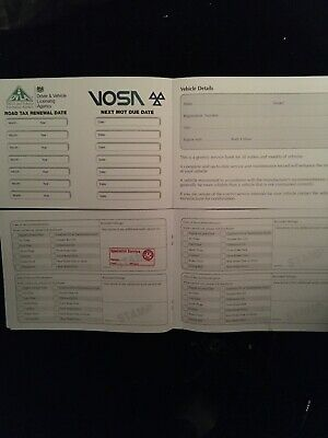 Vehicle Service Book - Blank History Book Maintenance Record For Any Vauxhall