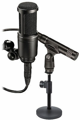 Audio Technica AT2041SP AT2020+AT2021 Studio Condenser Microphones+Mic Stand