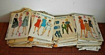 LOT B~ 47 VINTAGE 1960's SEWING PATTERNS Simplicity McCalls Butterick RESALE