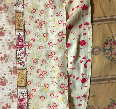 5 BEAUTIFUL SMALL PIECES 19th/20th CENTURY FRENCH LINEN COTTON PROJECTS REF 230