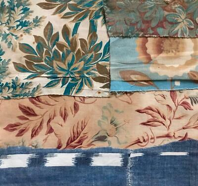 5 BEAUTIFUL SMALL PIECES 19th/20th CENTURY FRENCH LINEN COTTON PROJECTS REF 231