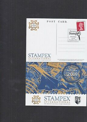 GB 2019 Autumn STAMPEX special Postcard with special stampex pmk